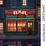 little cozy bar on the street... | Shutterstock .eps vector #259376447