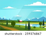 natural landscape. vector... | Shutterstock .eps vector #259376867