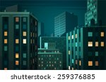 Night Cityscape. Vector...