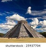 the temples of chichen itza...   Shutterstock . vector #25937704