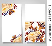abstract flower background with ... | Shutterstock . vector #259399745