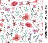 flowers and leaves wallpaper... | Shutterstock .eps vector #259401551