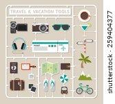 creative thinking vector flat... | Shutterstock .eps vector #259404377