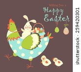 Easter Bunny Chicken And Easte...