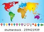 vector illustration of world... | Shutterstock .eps vector #259421939
