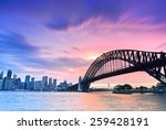 sydney harbour panorama viewed... | Shutterstock . vector #259428191