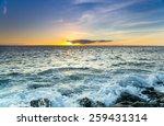 The Coast Of Atlantic Ocean On...