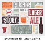 typographic retro grunge beer... | Shutterstock .eps vector #259435745