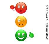 cartoon traffic lights | Shutterstock .eps vector #259436171