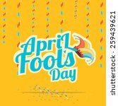 blue  text fool's day over... | Shutterstock .eps vector #259439621