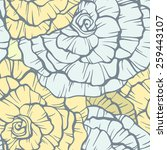 seamless pattern with... | Shutterstock .eps vector #259443107