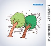 tornado trees  vector icon ... | Shutterstock .eps vector #259453841