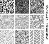 set of nine seamless patterns ... | Shutterstock .eps vector #259460921