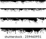 grunge edges vector set .... | Shutterstock .eps vector #259460951
