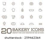set of vector bakery pastry... | Shutterstock .eps vector #259462364