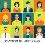 flat design avatar app icons... | Shutterstock .eps vector #259464101