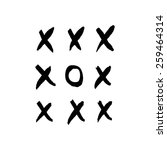 hand drawn tic tac toe elements. | Shutterstock .eps vector #259464314