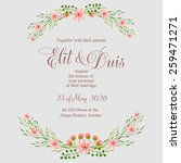 wedding invitation card | Shutterstock .eps vector #259471271