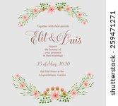 wedding invitation card | Shutterstock .eps vector #259471271