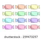 vector hand drawn colored candy ... | Shutterstock .eps vector #259473257