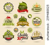 organic and ecology web icon... | Shutterstock .eps vector #259480025