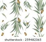floral pattern of eucalyptus... | Shutterstock .eps vector #259482365
