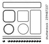 ball chain frames  vector... | Shutterstock .eps vector #259487237