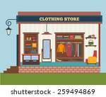 clothing store. man and woman... | Shutterstock .eps vector #259494869