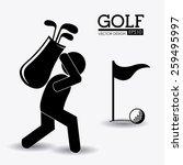golf design over white...   Shutterstock .eps vector #259495997
