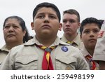 Boyscout Faces Of All Age At...