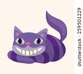 alice in wonderland theme... | Shutterstock .eps vector #259501229