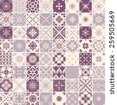 seamless 64 patterns with... | Shutterstock .eps vector #259505669