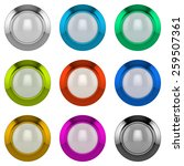 3d abstract colorful buttons set | Shutterstock . vector #259507361