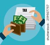 taxes design over blue... | Shutterstock .eps vector #259507757