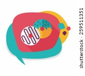 donut flat icon with long... | Shutterstock .eps vector #259511351