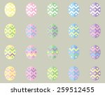 vector pastel easter eggs in...
