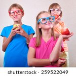 group portrait of funny kids... | Shutterstock . vector #259522049