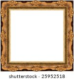 a picture frame on a white | Shutterstock . vector #25952518