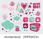 sweet and cute icon   Shutterstock .eps vector #259534151