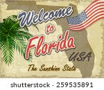 welcome to florida retro... | Shutterstock .eps vector #259535891