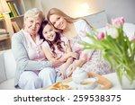 portrait of happy grandma ... | Shutterstock . vector #259538375