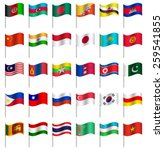 world flags on pole asia part 4 ...   Shutterstock .eps vector #259541855
