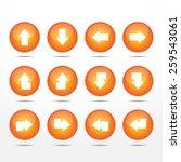 12 shining circle arrow vector