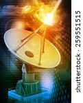 satellite dish transmission... | Shutterstock . vector #259551515