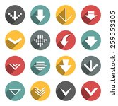 set of flat arrows. | Shutterstock .eps vector #259553105