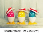 cute creative photo with easter ... | Shutterstock . vector #259558994