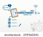 commitment concept and notebook ... | Shutterstock .eps vector #259560341