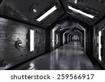 Dark Futuristic Spaceship...