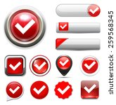 check mark button | Shutterstock . vector #259568345