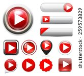 play button icon | Shutterstock . vector #259573829